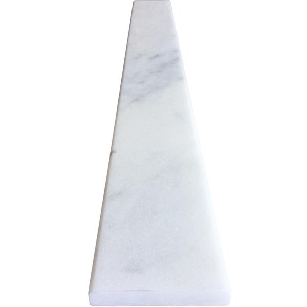 Saddle Threshold White Marble