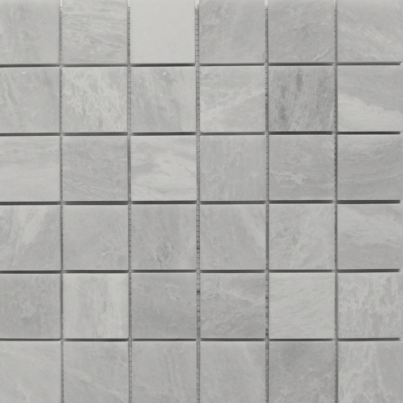 2x2 Mosaic Alaska White Marble Polished