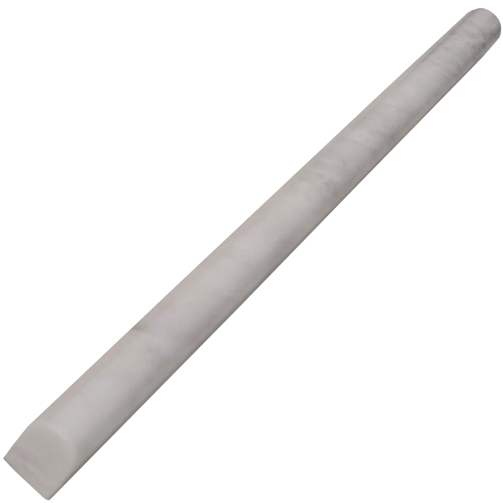 1/2x12 Pencil Molding Alaska White Marble Polished