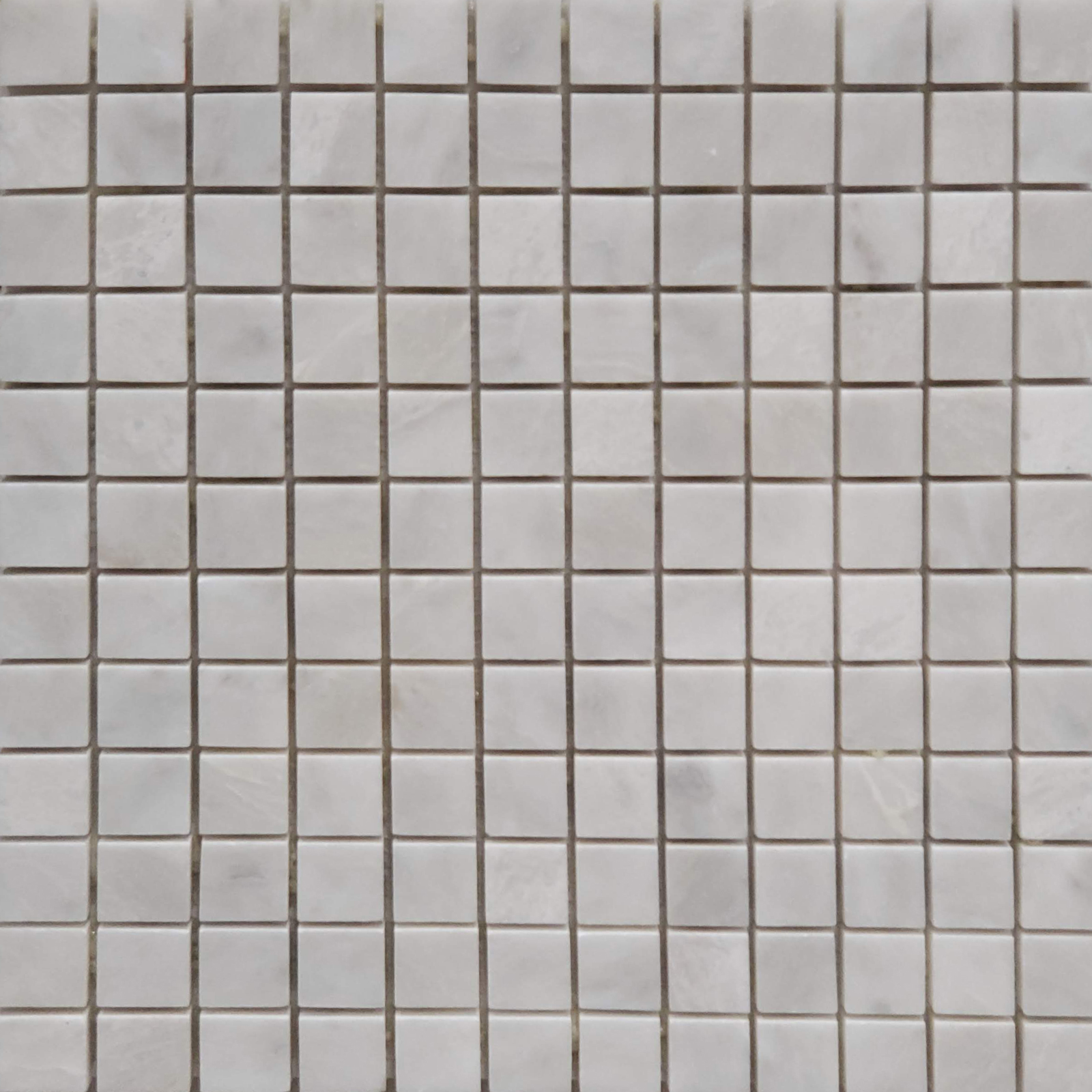 1x1 Mosaic Alaska White Marble Polished