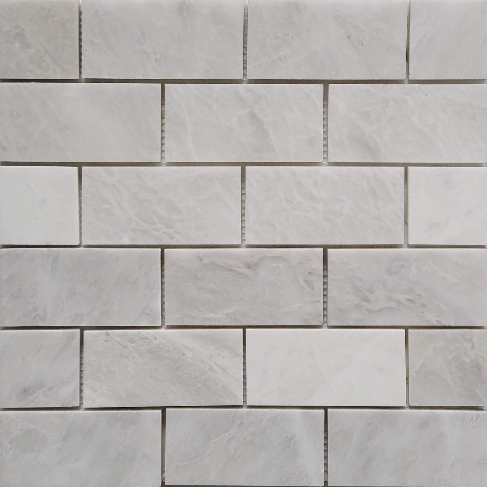 2x4 Mosaic Alaska White Marble Polished