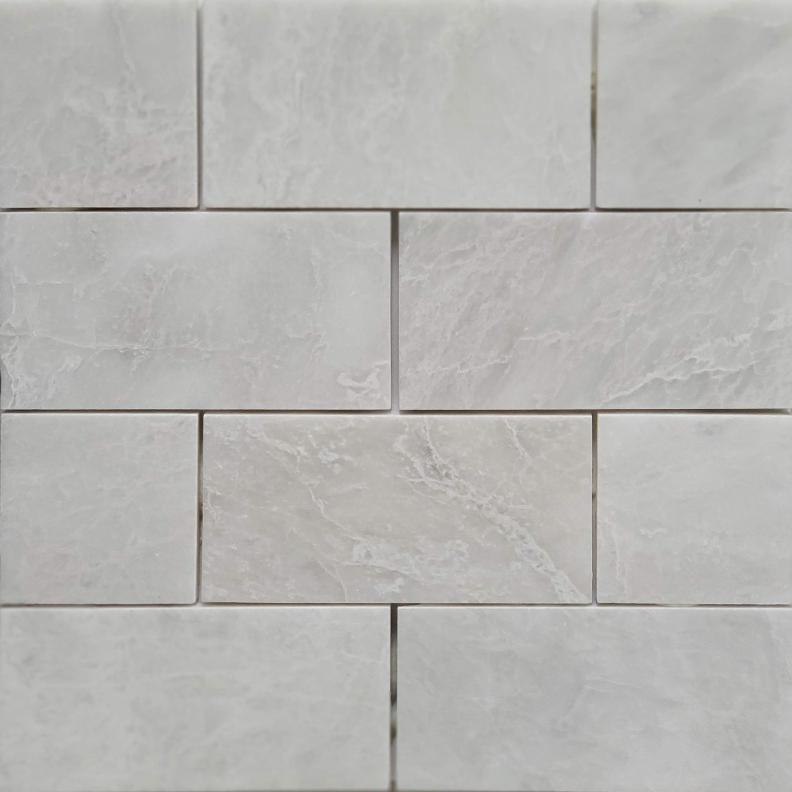 3x6 Alaska White Marble Polished Tile