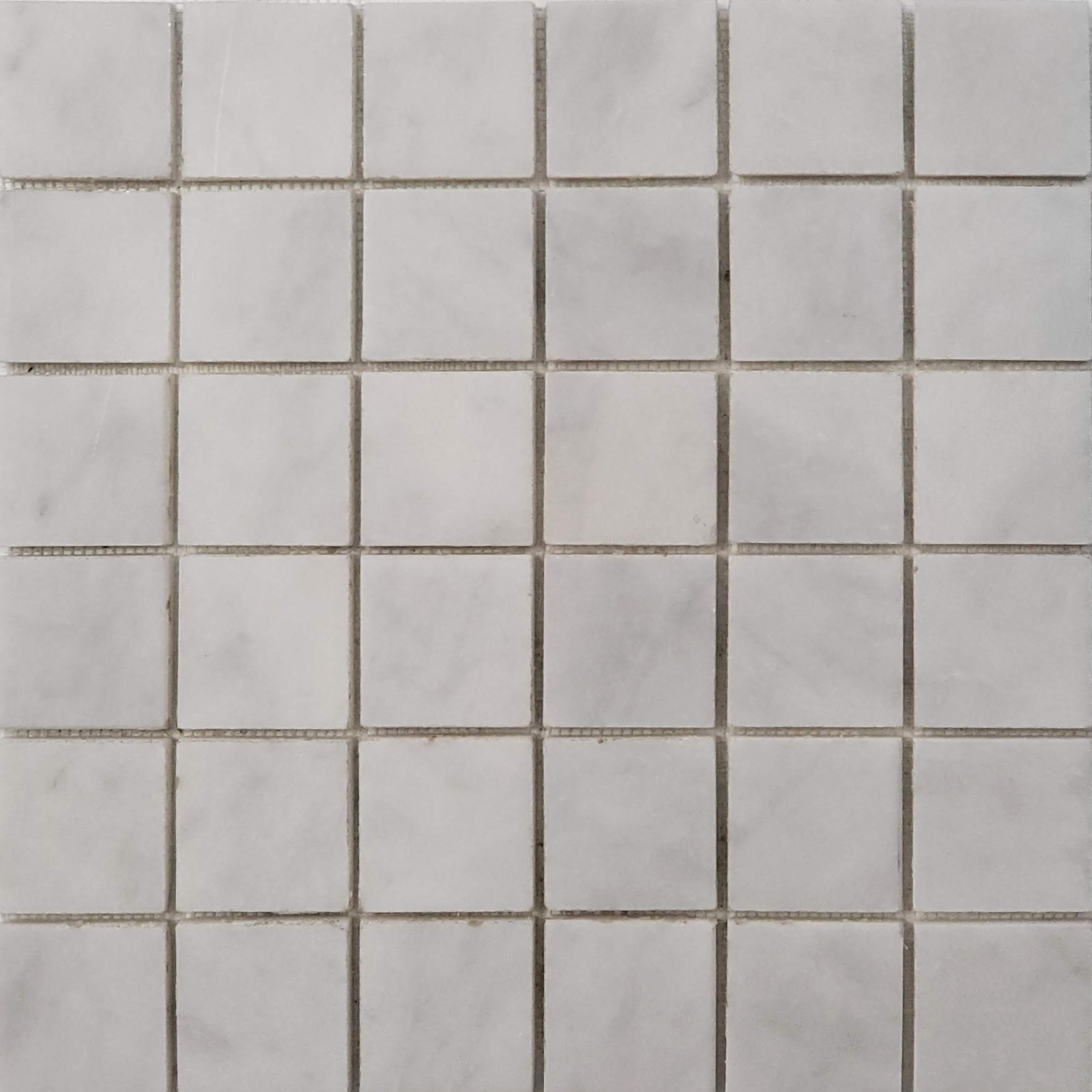 2x2 Mosaic Bianco Imperial Marble Honed