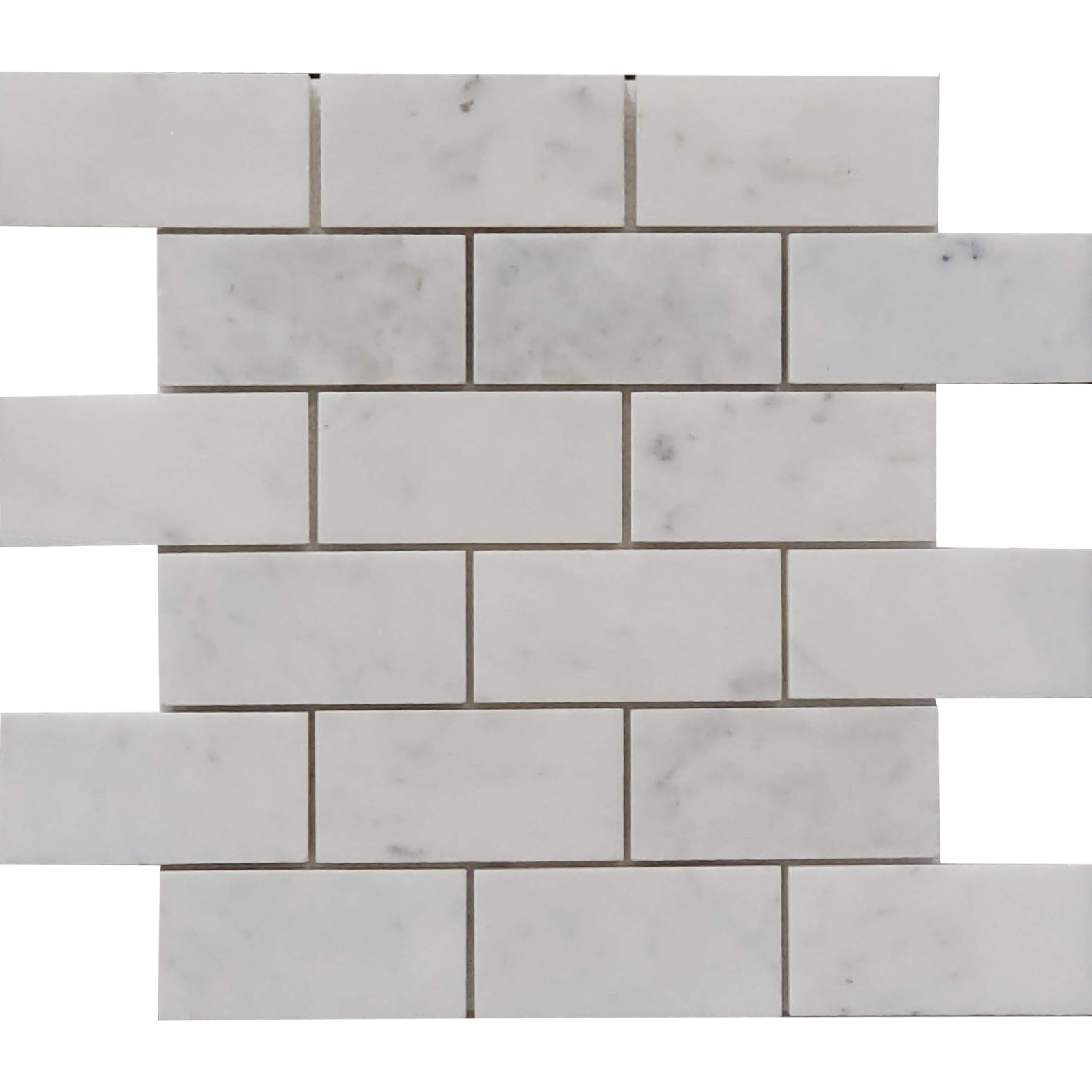 2x4 Mosaic Bianco Imperial Marble Honed