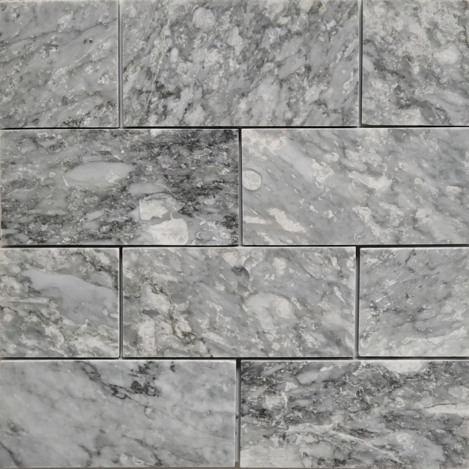 3x6 Chelsea Grey Marble Polished Tile