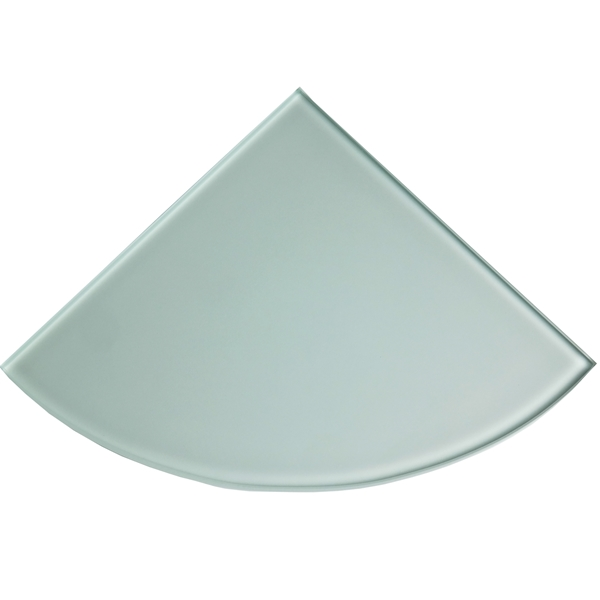 9x9 Frosted Glass Tempered Corner Shelf Tile