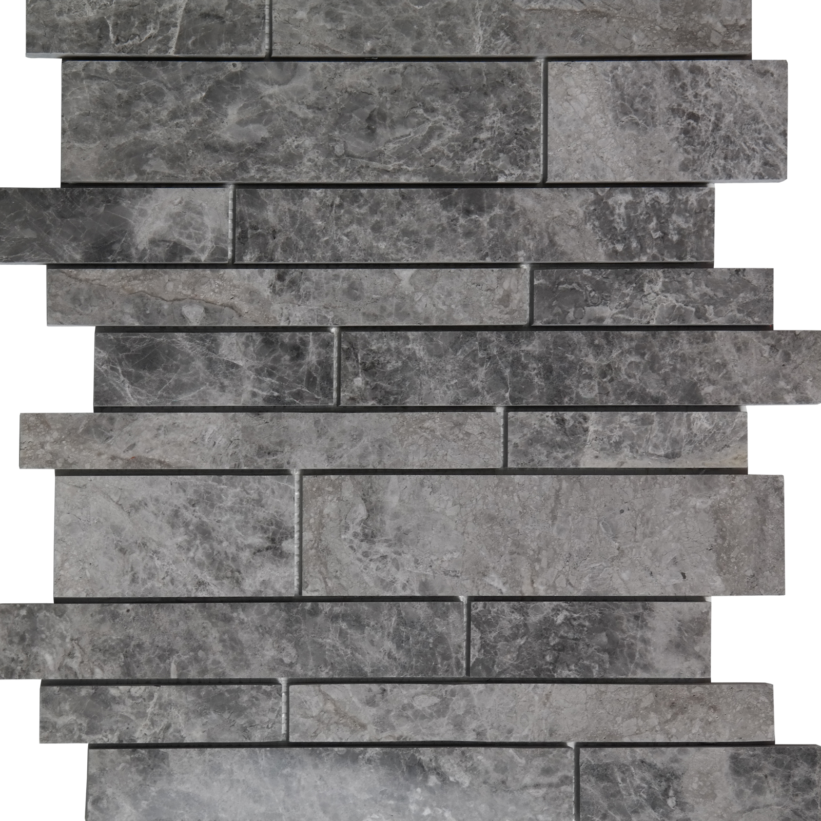 Waterfall Mosaic Cosmos Grey Marble Polished