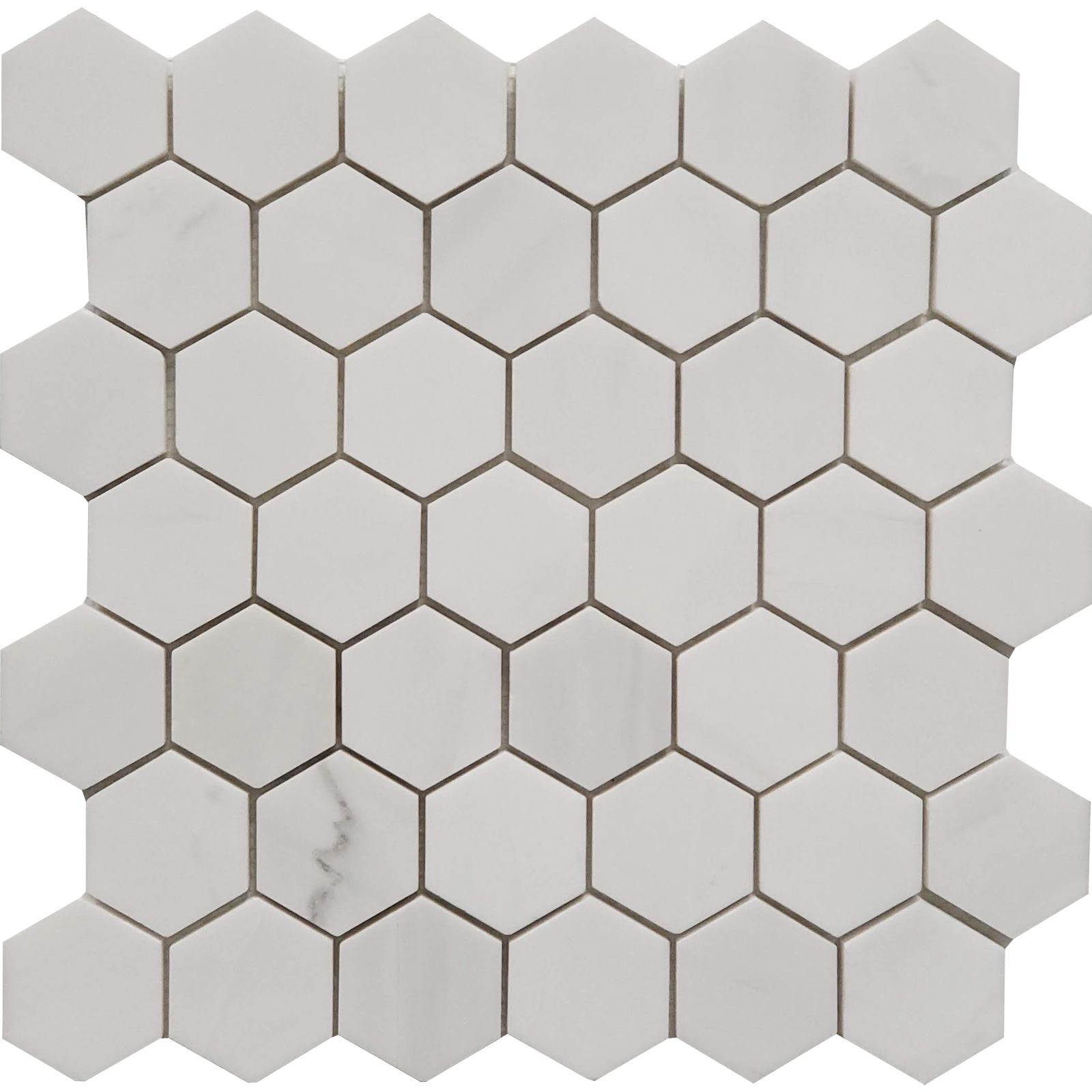 2 inch Hexagon Mosaic Dolomite Marble Polished