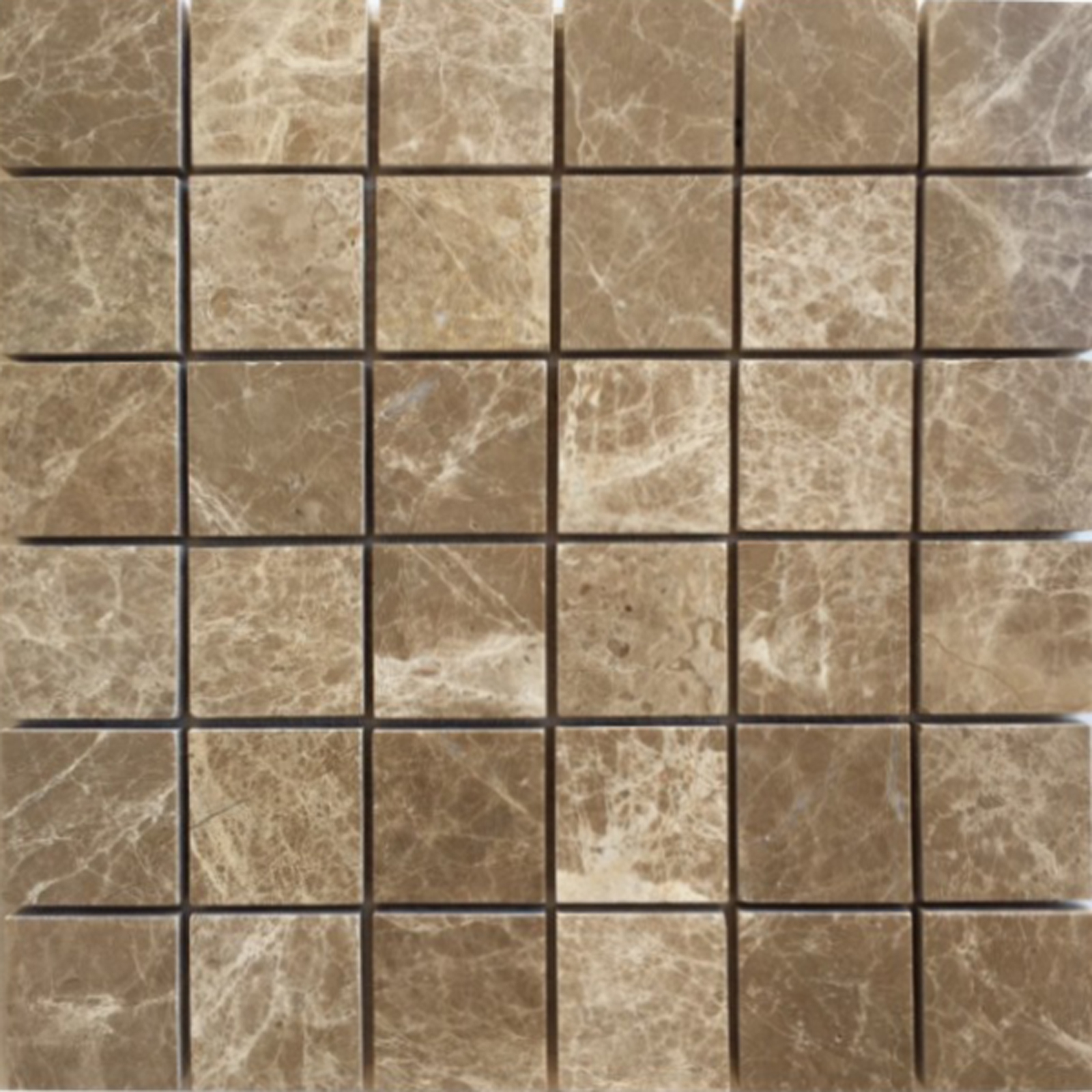 2x2 Mosaic Light Emperador Marble Polished
