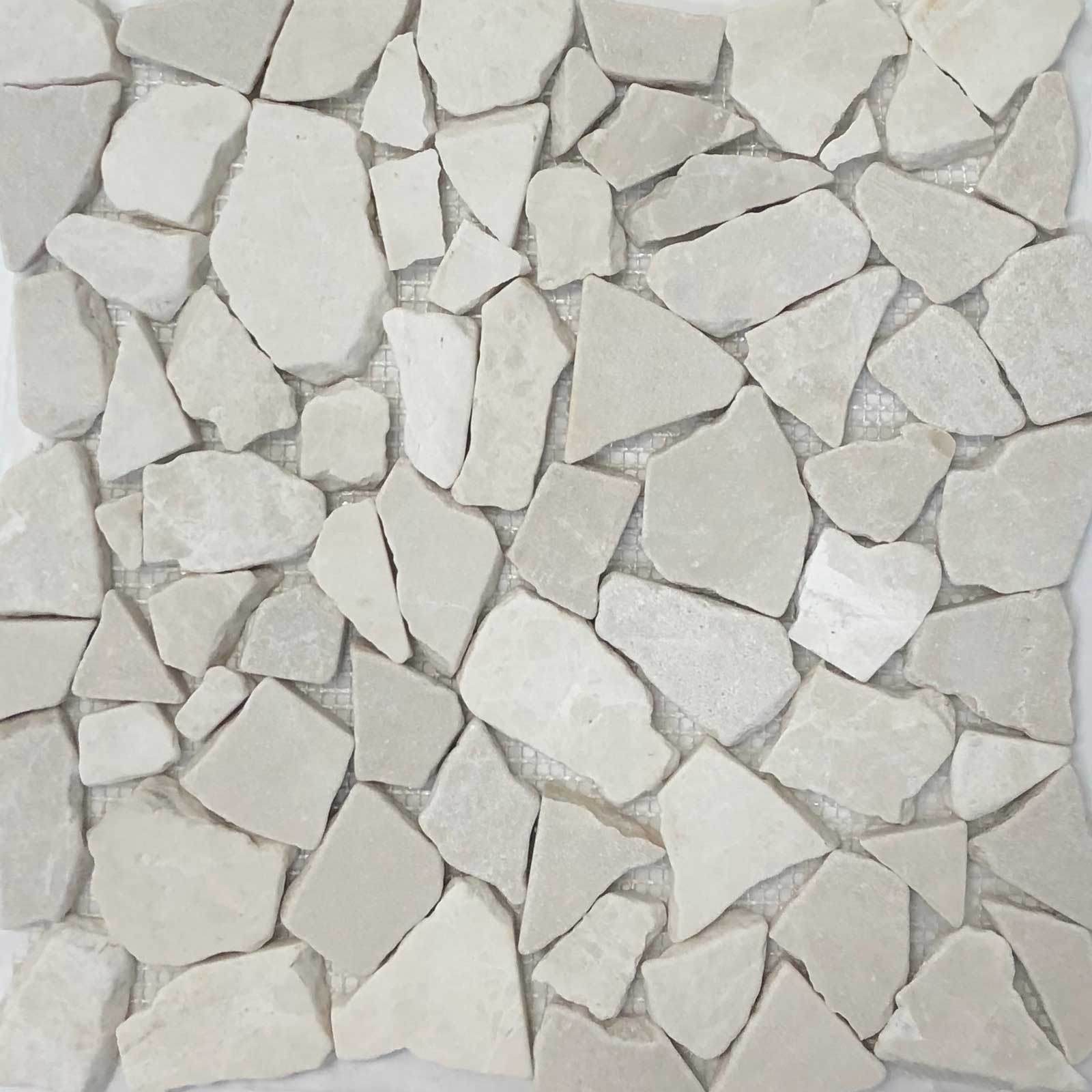 Flat Pebble Mosaic Bottichino Marble Honed