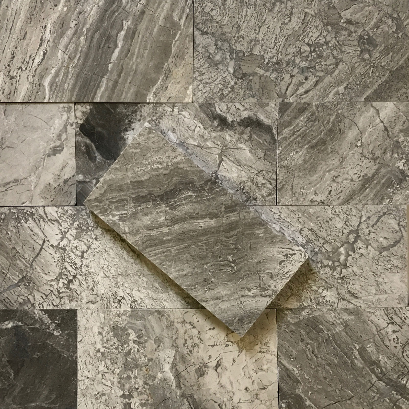 3x6 Silver Marlin Marble Polished Tile
