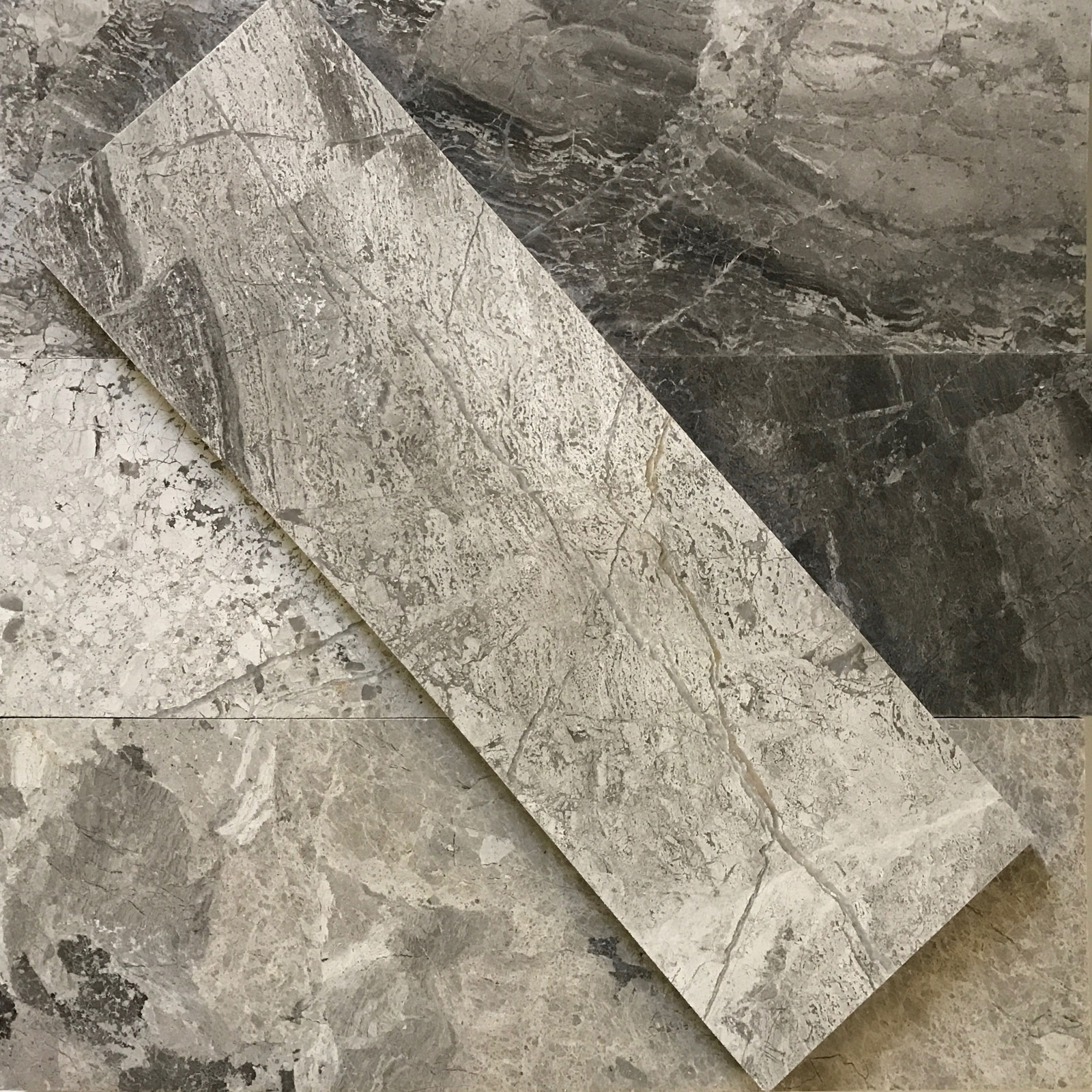 4x12 Silver Marlin Marble Polished Tile