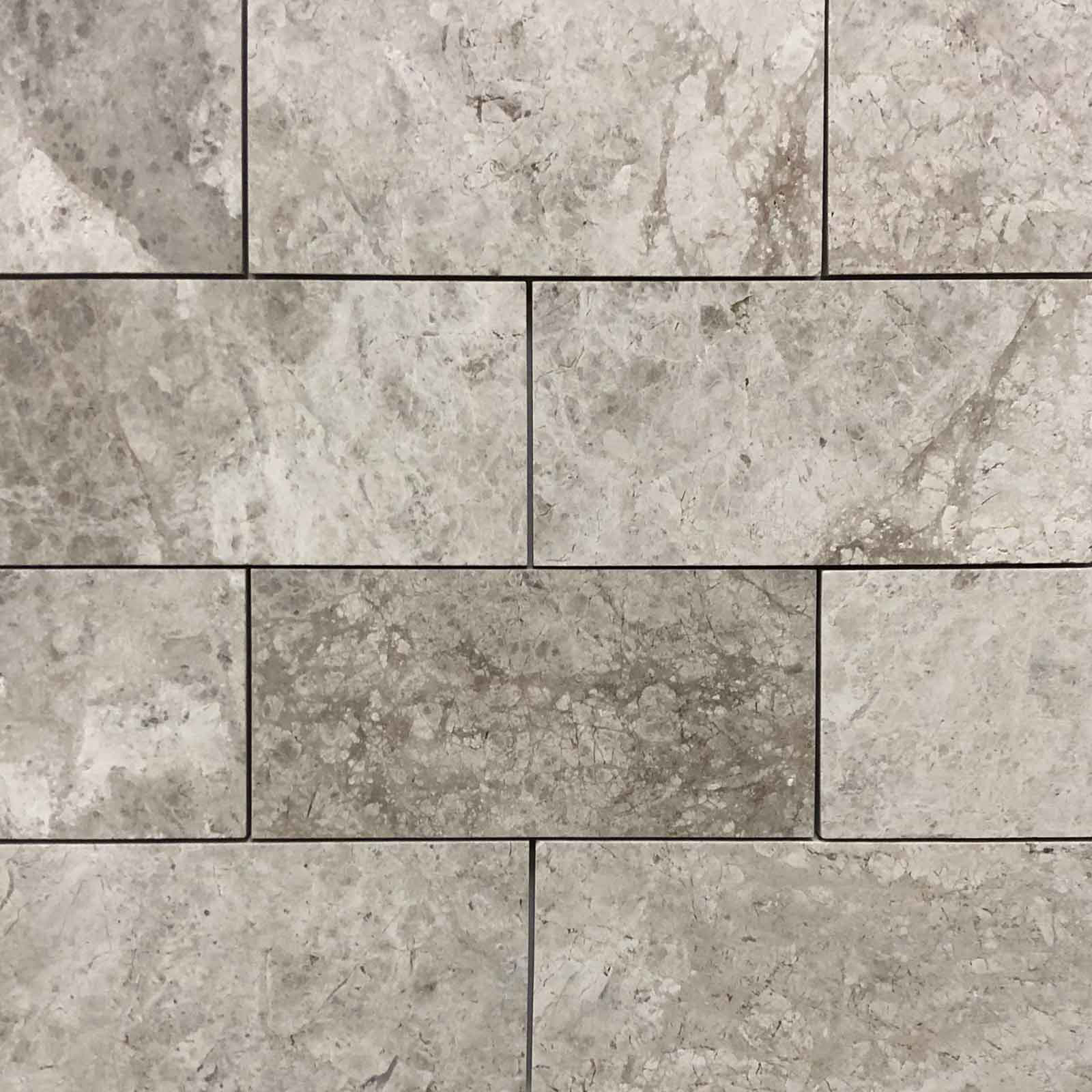 3x6 Silver Shadow Marble Polished Tile