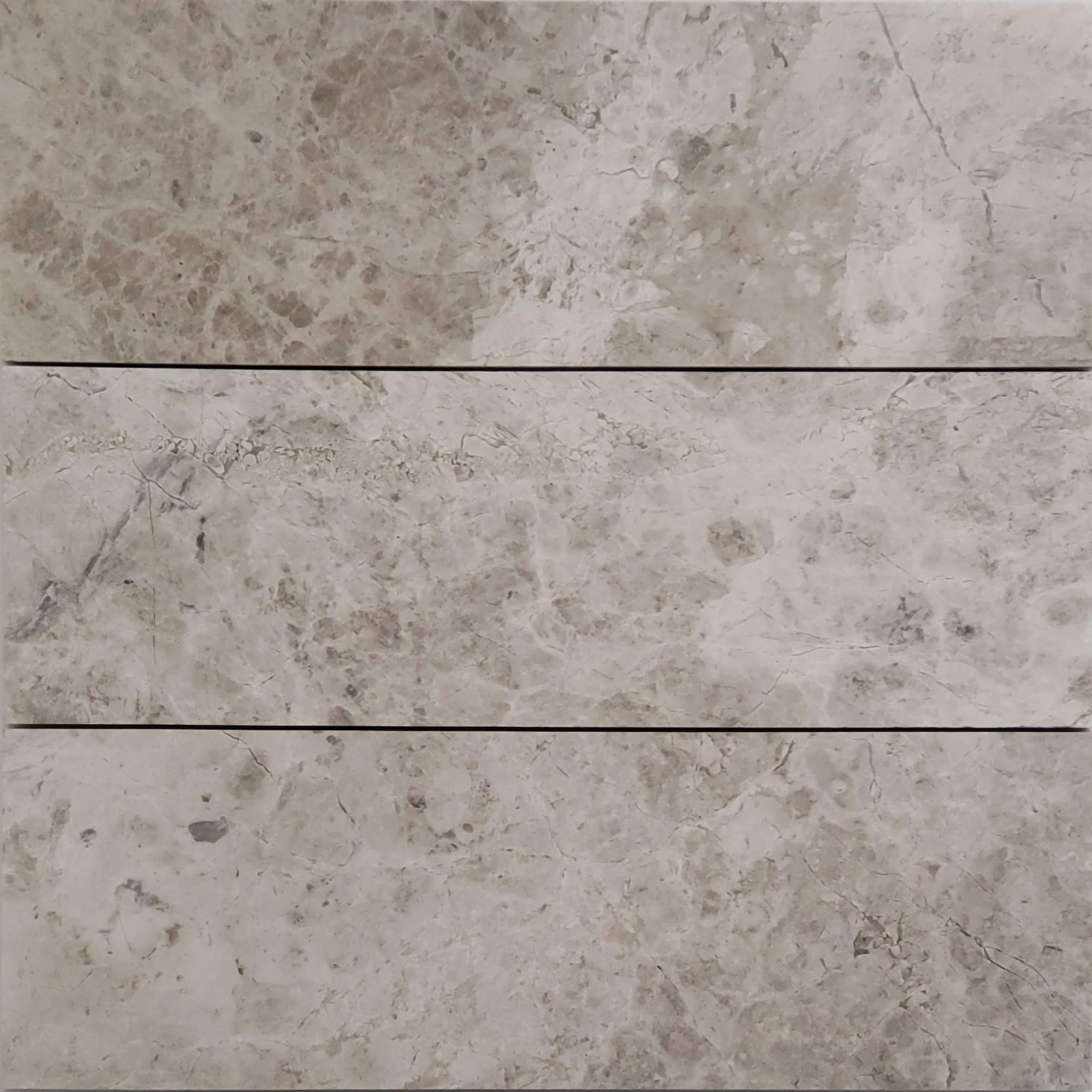 4x12 Silver Shadow Marble Polished Tile