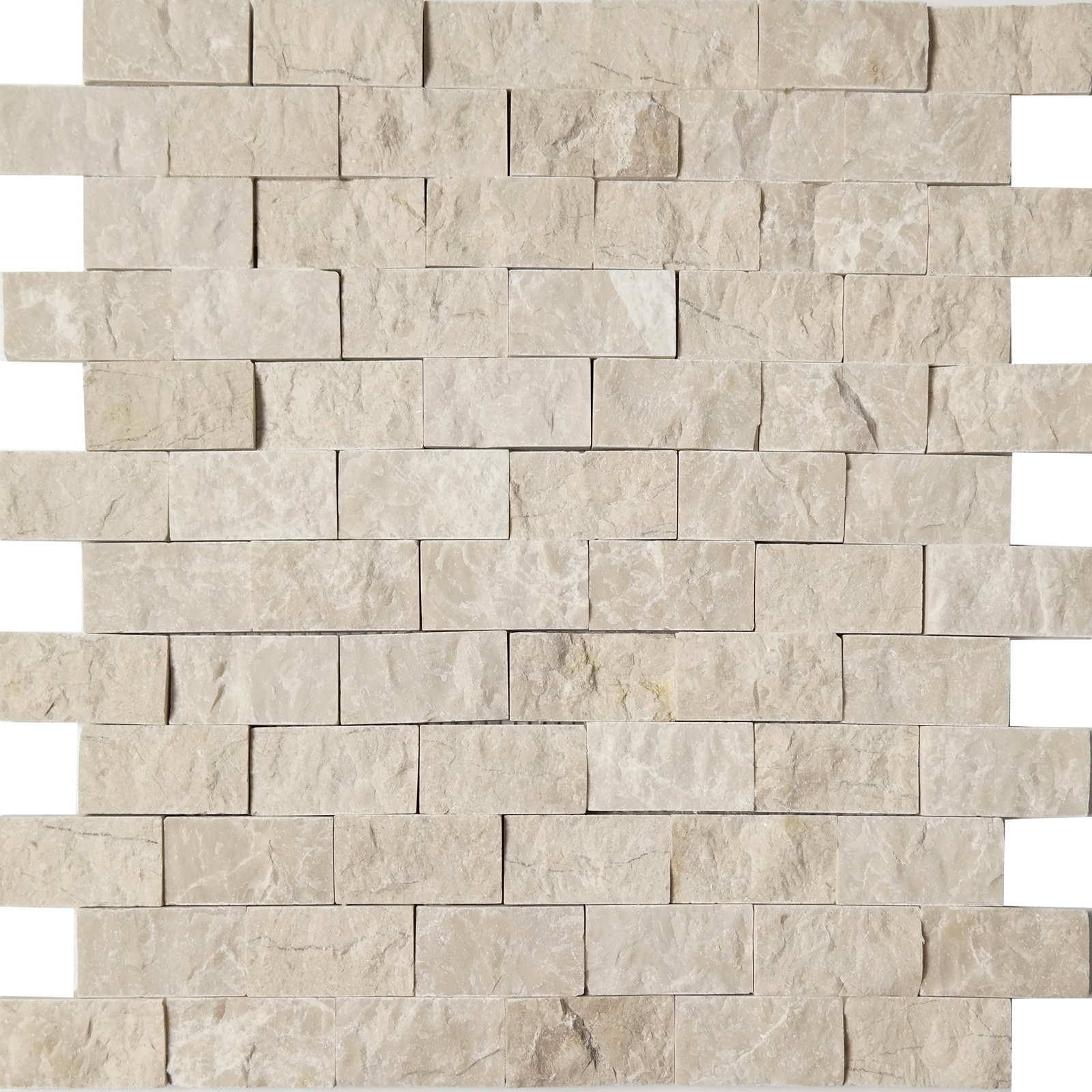 1x2 Split Face Mosaic Bottichino Marble