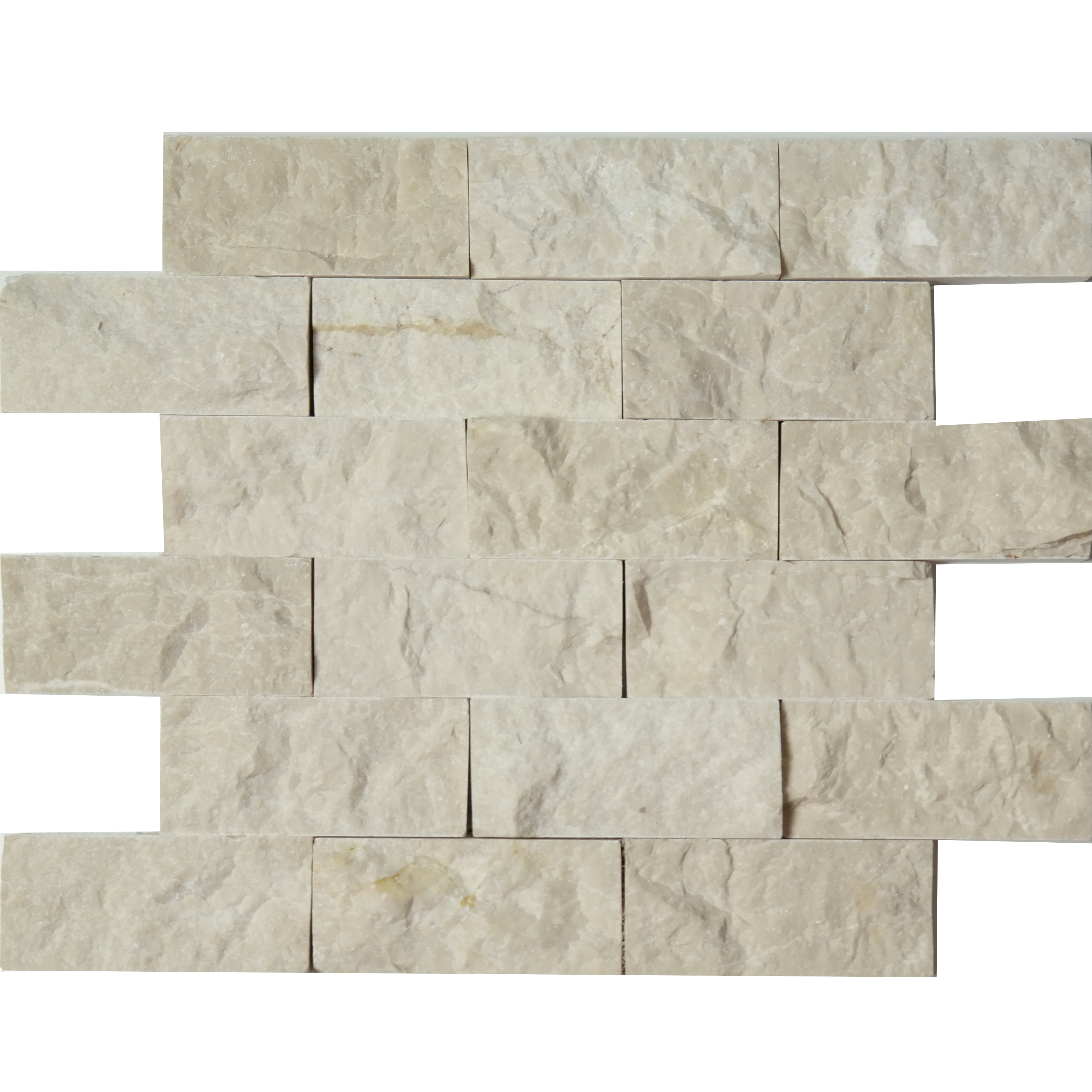 2x4 Split Face Mosaic Bottichino Marble