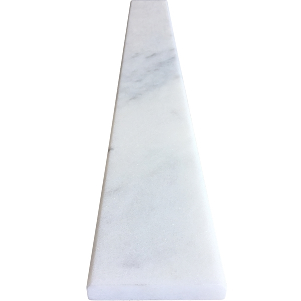 Saddle Threshold Milas White Marble Polished Tile